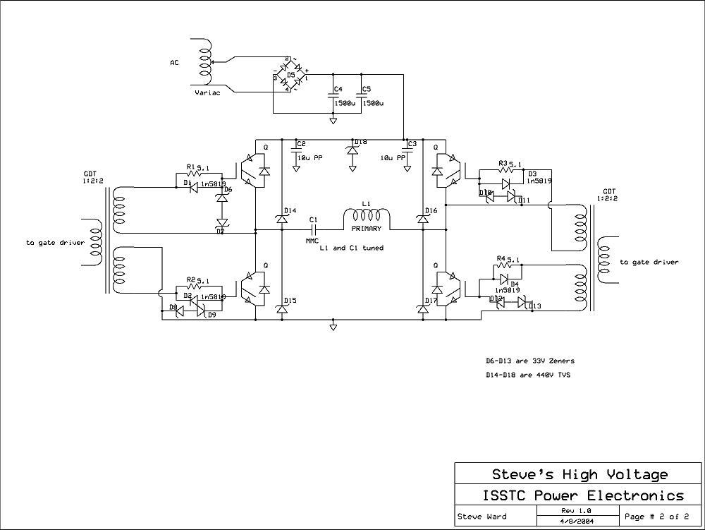 Я так думаю что возможна переделка под оптодрайвер?  Я спрашивал про девайс DRSSTC.  Вот силовая схема. http...